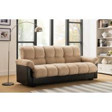 7538 BEIGE Fabric Sofa Bed