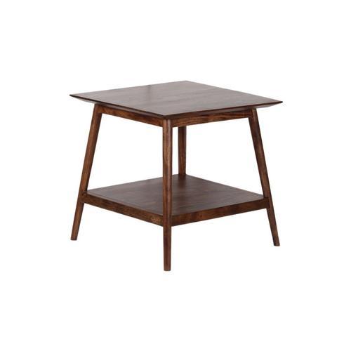 Porter International Designs - Portola Walnut End Table with Shelf, 2005-003WW