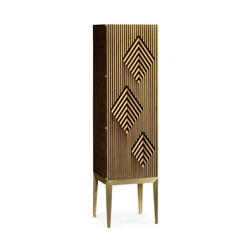 Op Art Diamond Bright Satinwood Left Storage Cabinet