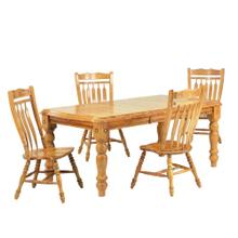 DLU-SLT4272-C10-LO5PC  5 Piece Extendable Dining Set  Aspen Chairs