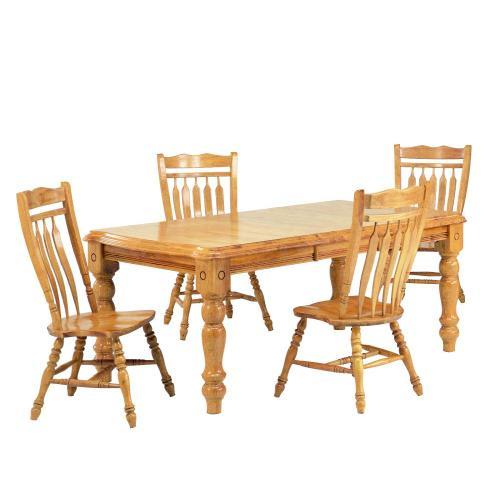 Extendable Dining Set w/Aspen Chairs (5 Piece)