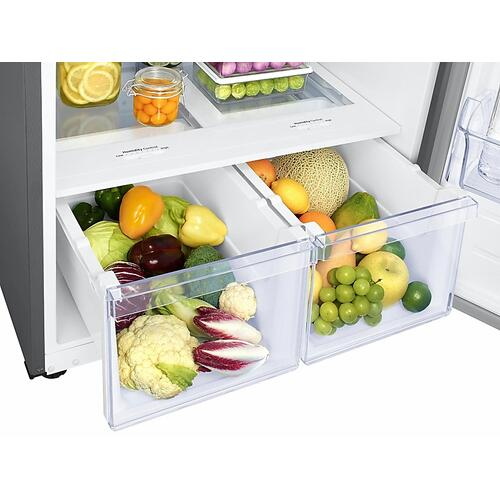21 cu. ft. Top Freezer Refrigerator with FlexZone™ and Ice Maker in Stainless Steel