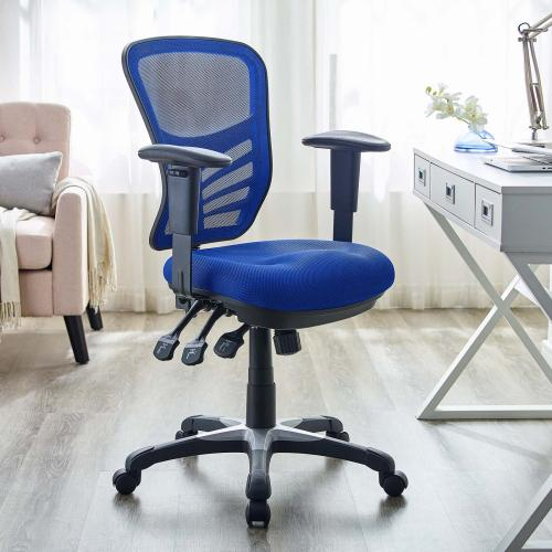 Articulate Mesh Office Chair in Blue