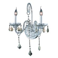 7852 Verona Collection Wall Sconce D:14in H:20in E:8.5in Lt:2 Chrome Finish
