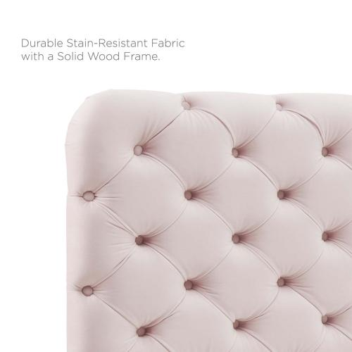 Modway - Lizzy Tufted Full/Queen Performance Velvet Headboard in Pink