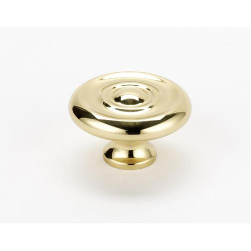 Traditional Knob A817-38 - Unlacquered Brass