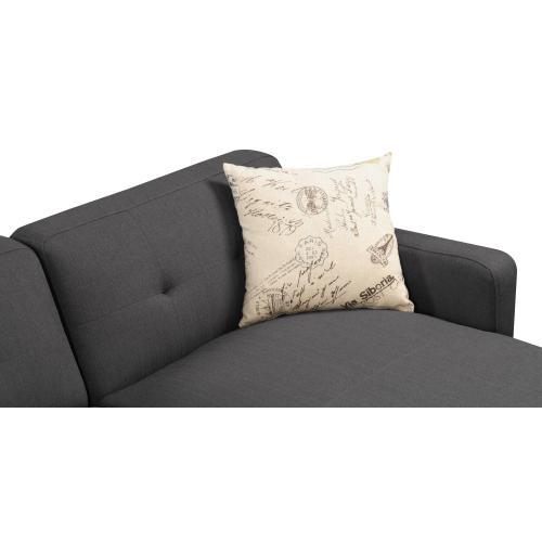 Emerald Home Remix Sofa W/2 Accent Pillows Charcoal U3789m-00-13