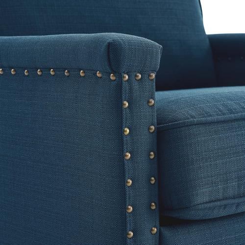 Modway - Ashton Upholstered Fabric Armchair in Azure
