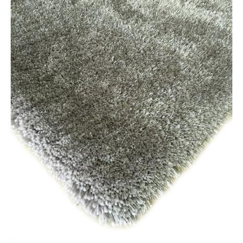 "Shaggy Viscose Solid S.V.S. - Silver / 4' x 5'4"""