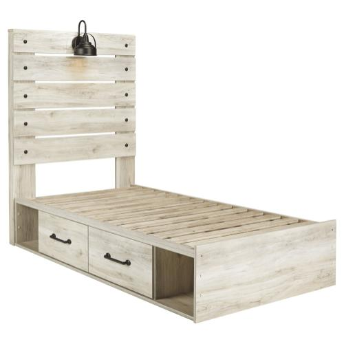 Twin Panel Bed With 2 Storage Drawers With Dresser