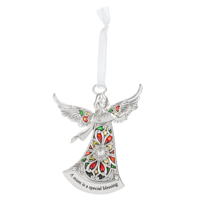 Angel Ornament - A mom is a special blessing