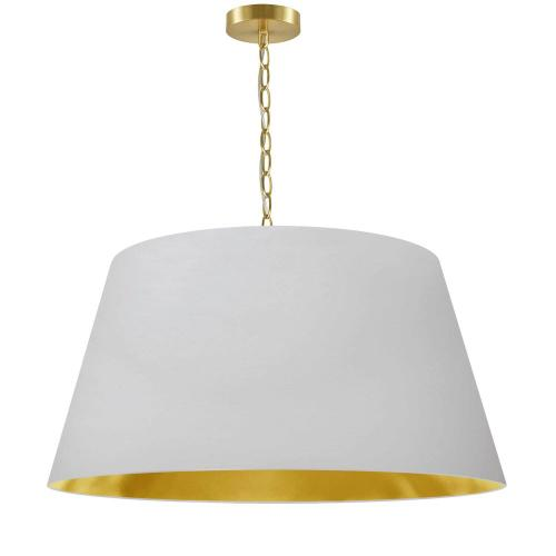 Product Image - 1lt Brynn Large Pendant, Wht/gld Shade, Agb
