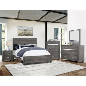 Gaston Nightstand Grey