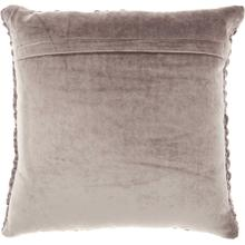 "Life Styles Sc001 Dark Grey 18"" X 18"" Throw Pillow"
