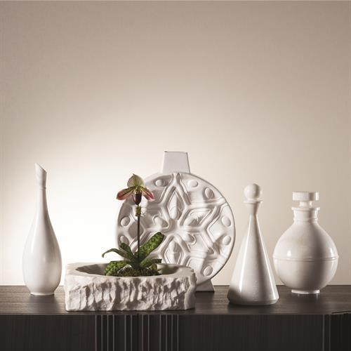 Nouveau Vase-Matte White