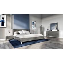 Nova Domus Bronx Italian Modern Faux Concrete & Grey Bedroom Set