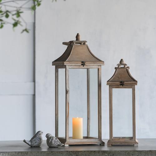 S/2 Garden Candle Lanterns