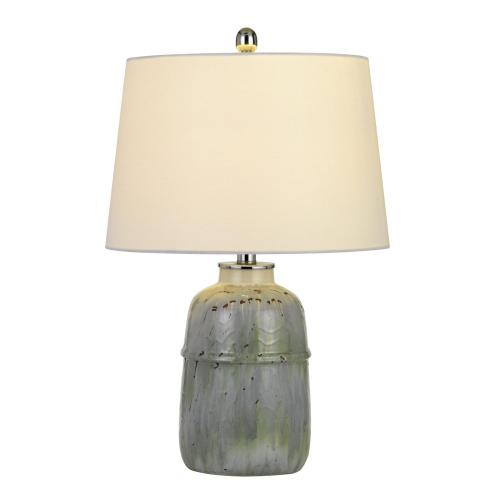 Vittoria Ceramic Table Lamp With Hardback Fabric Shade (Sold And Priced As Pairs)