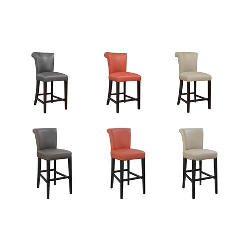 "Briar III 24"" Bar Stool, Persimmon Orange D109-24-07"