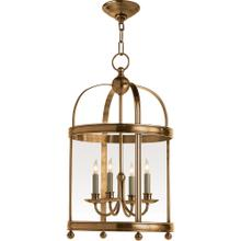 Visual Comfort CHC3427AB E. F. Chapman Edwardian 4 Light 15 inch Antique-Burnished Brass Foyer Pendant Ceiling Light