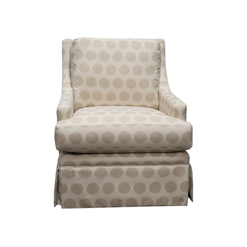 Swivel Chair, Fully Upholstered, Skirted.
