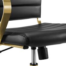Jive Gold Stainless Steel Midback Office Chair in Gold Black