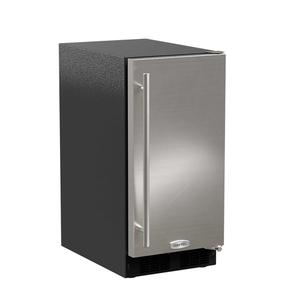 Marvel15-In Low Profile Built-In Clear Ice Machine With Arctic White Illuminice with Door Style - Stainless Steel, Door Swing - Right, Pump - No