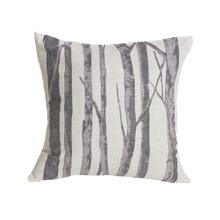 View Product - Printed Branches Cream & Gray Throw Pillow, 18x18