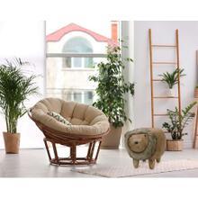 "Critter Sitters Plush Lion Animal Ottoman Furniture for Nursery, Bedroom, Playroom & Living Room Decor, 14"" Seat Height, CSLIONOTT-BRN"