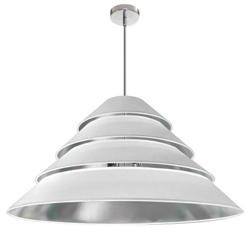 Product Image - 4lt Aranza Pendant White/silver Shade, Polished Ch
