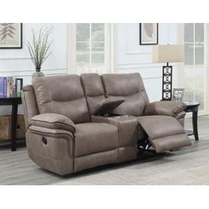 Isabella Console Loveseat Recliner, Sand