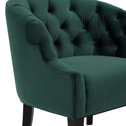 Precept Accent Performance Velvet Armchair in Green