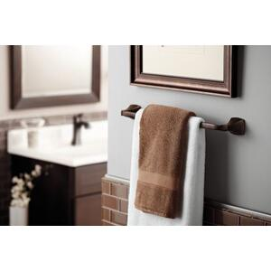 "Voss oil rubbed bronze 24"" towel bar"