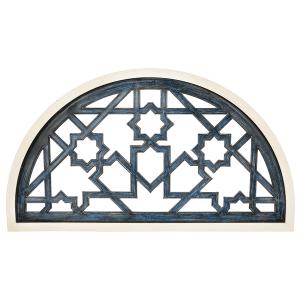 Distressed Blue Moroccan Half Arch Wall Decor