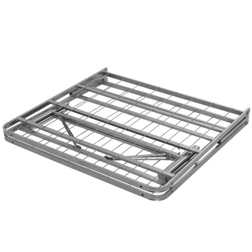 Horizon Twin Stainless Steel Bed Frame in Silver