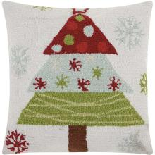 "Home for the Holiday Yx013 Multicolor 18"" X 18"" Throw Pillow"