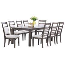 See Details - Dining Set - Shades of Gray (9 Piece)