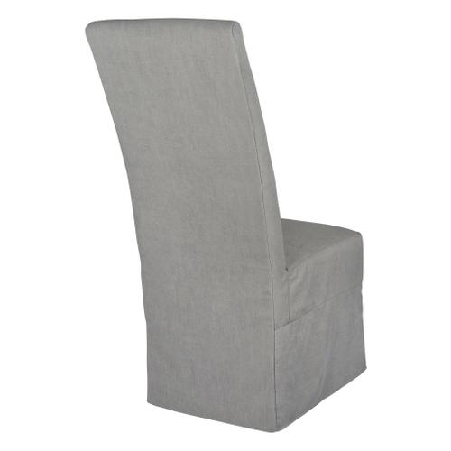 Forty West Designs - Long Parson Slip Cover-washable + Reversible Gray