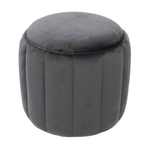 Tov Furniture - Ives Grey Velvet Ottoman