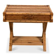Campaign Style Side Table