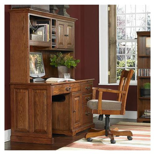 Product Image - 58-Inch Computer Desk #8958 with #8959 Hutch Warm Oak finish-Floor Sample-**DISCONTINUED**