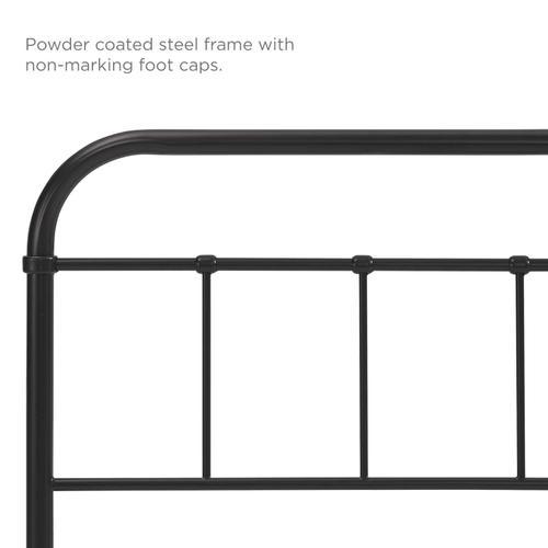Modway - Serena Twin Steel Headboard in Brown