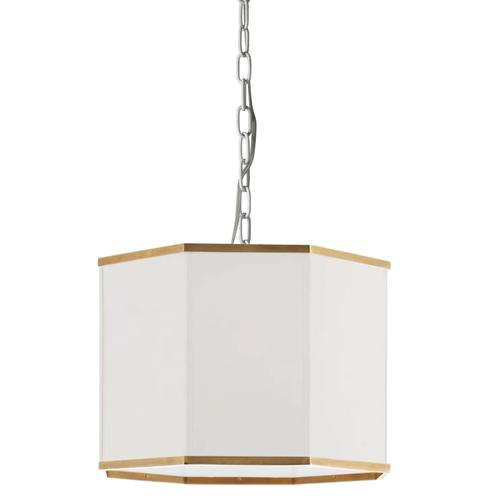 Product Image - 1lt Pendant, Mw W/ Wh Shade and Gld Trim
