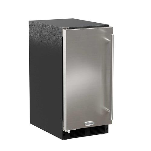 Marvel - 15-In Low Profile Built-In Clear Ice Machine With Arctic White Illuminice with Door Style - Stainless Steel, Door Swing - Left, Pump - No