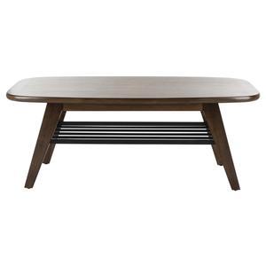 Safavieh - Oren 2 Tier Coffee Table - Walnut / Black