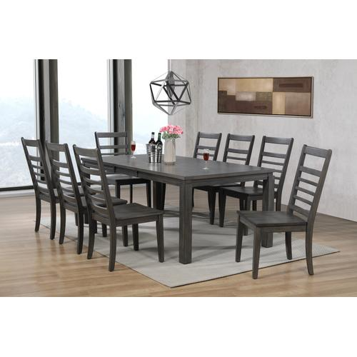 Large Wood Dining Chair - Shade of Gray (Set of 2)