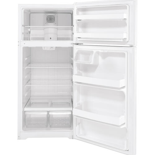GE Energy Star® 16.6 Cu. Ft. Top-Freezer Refrigerator White - GTE17DTNRWW