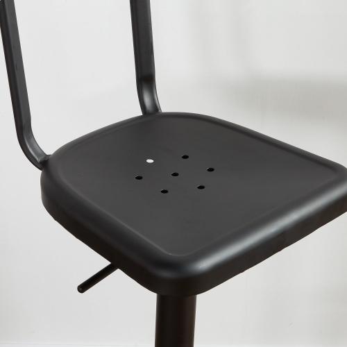 Haines Adjustable Stool, set of 2 in Black