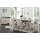 Jefferson 7-Piece Dining Set, Brown