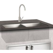 Double Sink and Mixer Faucet